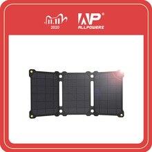 ALLPOWERS 21Wแผงพลังงานแสงอาทิตย์เซลล์ชาร์จพลังงานแสงอาทิตย์แบบพกพาแบตเตอรี่ชาร์จโทรศัพท์สำหรับSony iPhoneX PLUS 11Pro iPad