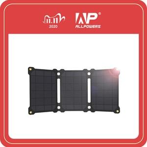 Image 1 - Allpowers bateria portátil de painel solar 21w, células fotovoltaicas e carregadores de celular para sony iphonex plus 11pro ipad