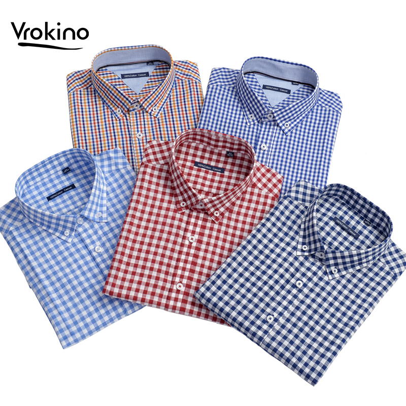 Plus Large Size 8XL 9XL 10XL 2020 Spring And Autumn Men's 100% Cotton Plaid Long Sleeve Shirt Business Casual Office Loose Shirt