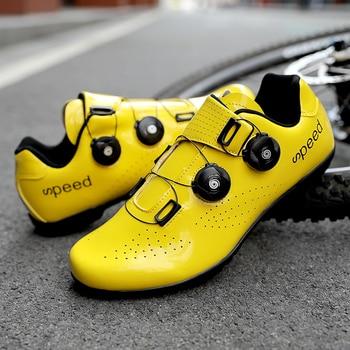Sapatos de ciclismo de estrada colorido cor reflexiva mudando profissional mountain bike respirável bicicleta corrida auto-bloqueio sapatos 1
