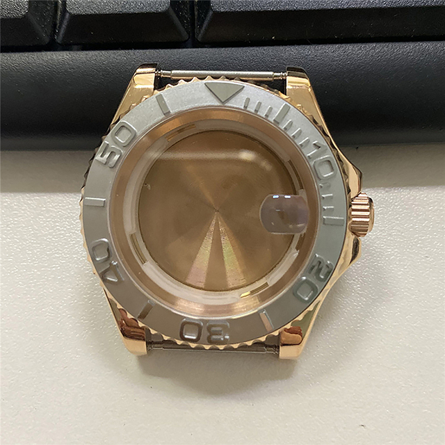 For Miyota 8215 8200 821A Watch Movement Replacement 40MM Stainless Steel Rose Gold Watch Case for Mingzhu 2813 Watch Parts
