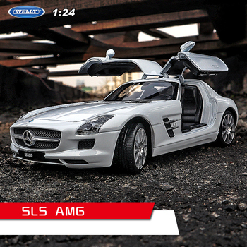 welly 1:24  Mercedes SLS AMG white  car alloy car model simulation car decoration collection gift toy Die casting model boy welly 1 24 mercedes amg gtr green car alloy car model simulation car decoration collection gift toy die casting model boy toy