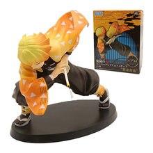 Kimetsu não yaiba figura 15cm agatsuma zenitsu estatueta tanjirou nezuko anime demônio assassino figura de ação modelo brinquedos boneca presente