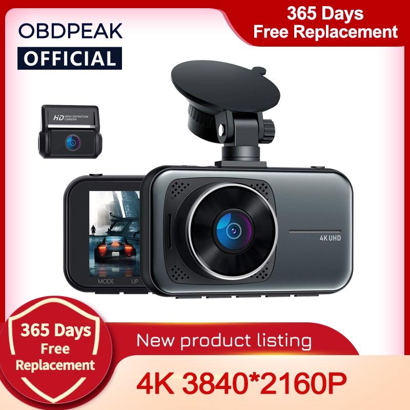 OBDPEAK M8 Видеорегистраторы для автомобилей видеорегистратор с разрешением 4K Ultra HD 3