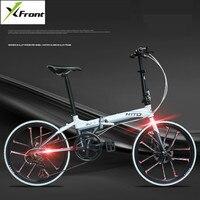 Neue X-Front Rennrad Aluminium Legierung Rahmen 22 zoll Rad Dual Disc Brems Faltrad Licht Gewicht bmx fahrrad
