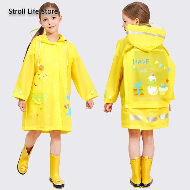 Yellow Boy Raincoat Kids Rain Poncho Cute Cartoon Plastic Suit Rain Coat Pants Set Windbreaker Waterproof Coat Impermeable Gift 4