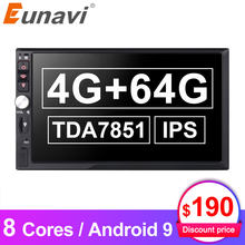Eunavi 2 Din Octa 8 core IPS Universal Android 9 4GB 64GB Car Multimedia Radio Stereo GPS Headunit 1024*600 Touch Screen NO DVD(China)