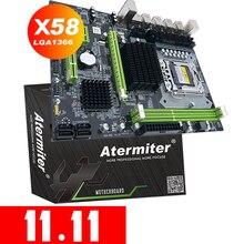 Atermiter X58 LGA 1366 anakart desteği REG ECC sunucu bellek ve Xeon işlemci desteği LGA 1366 CPU