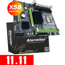 Atermiter X58 lga 1366マザーボードサポートreg eccサーバーメモリとxeonプロセッササポートlga 1366 cpu