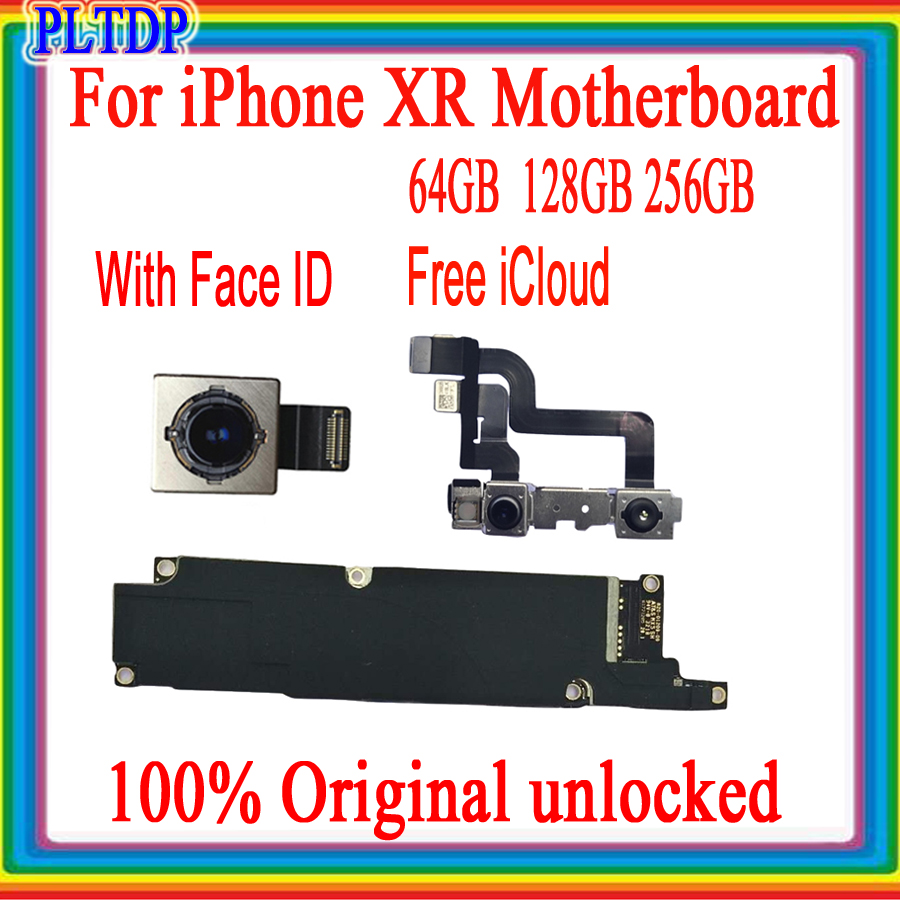 100% Original Unlocked For iPhone XR Motherboard With/No Face ID, Free iCloud Unlocked Mainboard For iPhone XR 64GB 128GB 256GB
