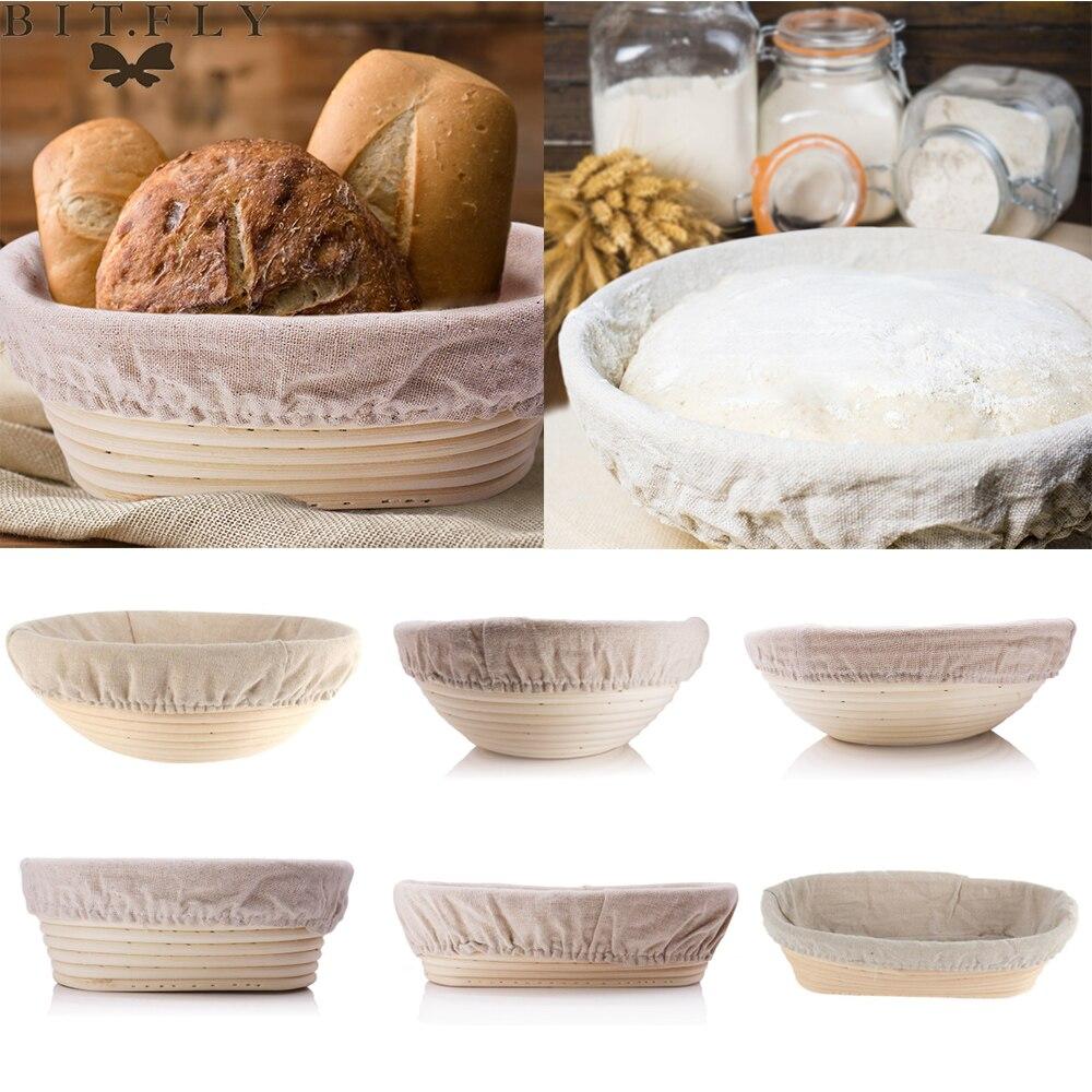 Hot Bread Fermentation Rattan Basket Country Bread Baguette Dough Mass Proofing Tasting Proving Baskets Supplies