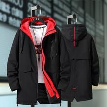 Plus Size 10XL 9XL 8XL 7XL 6XL Black Winter Jacket Men Thick Parkas Casual Jacke