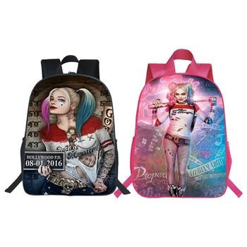 Fashion Printing Suicide Squad Teenagers School Backpacks Harley Quinn Children Schoolbag Kids School Bags Kindergarten Bookbag school based suicide prevention program planning