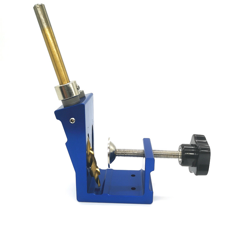 Image 4 - 9mm Pocket Hole Puncher jig kit Mini Style Pocket Hole Jig Kit For Wood Working Step Drill Bit Set Woodworking ToolsDrill Bits   -
