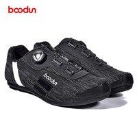 Boodun obuwie rowerowe mężczyźni odblaskowe antypoślizgowe oddychające Sapatilha Ciclismo MTB szosowe buty rowerowe Outdoor No Lock sprzęt w Buty rowerowe od Sport i rozrywka na