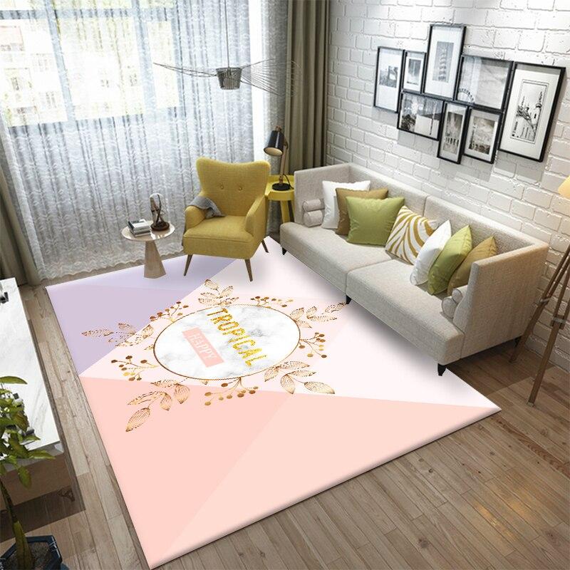 Nordic Cartoon Carpet European Home Living Room Carpets Rectangle Lovely Child Girl Rug Bedroom Bedside Blanket Yoga Teppich Mat
