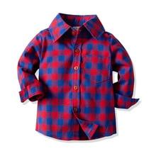 Хлопковая рубашка в клетку для мальчиков среднего и большого размера, универсальная рубашка на весну и осень, Детский кардиган