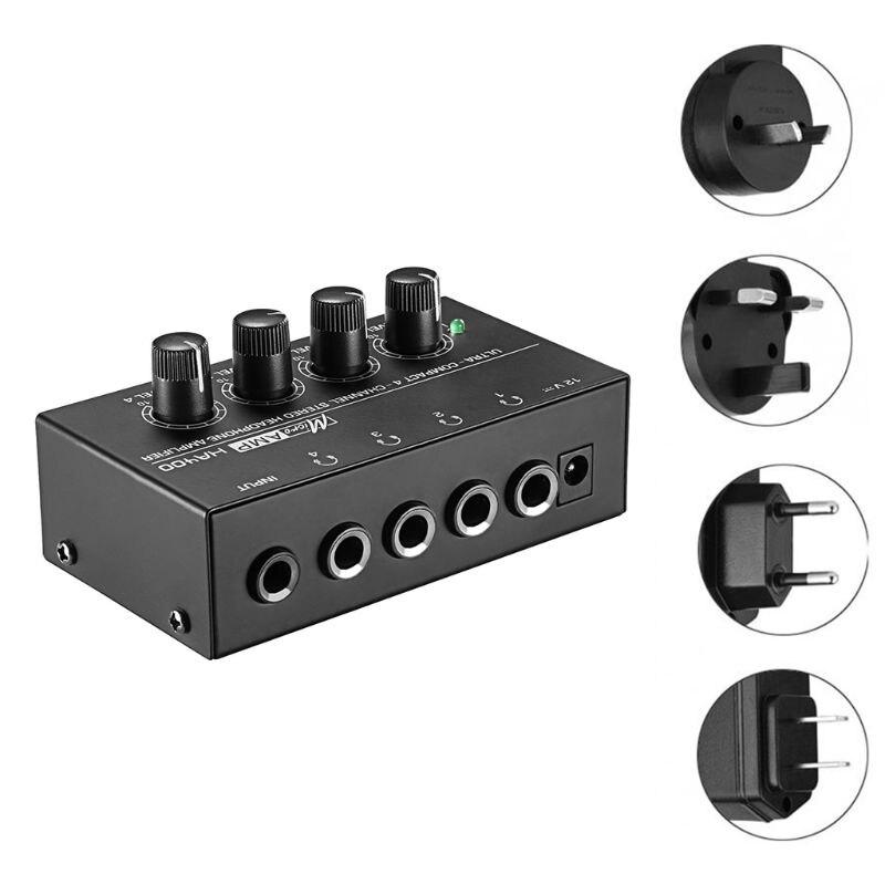 HA400 4 Channels Mini Stereo Headphone Amplifier with Power Adapter US/UK/EU/AU 831D - ANKUX Tech Co., Ltd