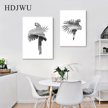 Nordic Art Home Canvas Painting Abstract Animal landscape Printing Wall Poster for Living Room  DJ302