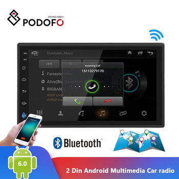 Podofo 2 Din Android Car radio Multimedia Video Player auto Stereo GPS MAP Car Multimedia Player Mirror Link Autoradio Stereo