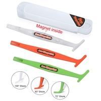 FOSHIO 3 sztuk magnetyczny Pro Vinyl Wrap Stick ściągaczka skrobak zestaw naklejki z włókna węglowego samochodów folia do zawijania mikro magnes odcień narzędzie na