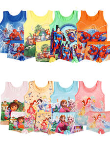 Girls Sleepwear Pajamas-Set Spiderman Cars Boys Kids Children's Cartoon Elsa Summer Anna