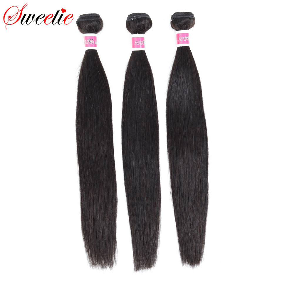 Hb6a685a4fce4421eb2b38302f9a50e69G Sweetie 13X4 Ear To Ear Lace Frontal Closure With Bundles Peruvian Straight Human Hair Bundles With Frontal Non-Remy Hair