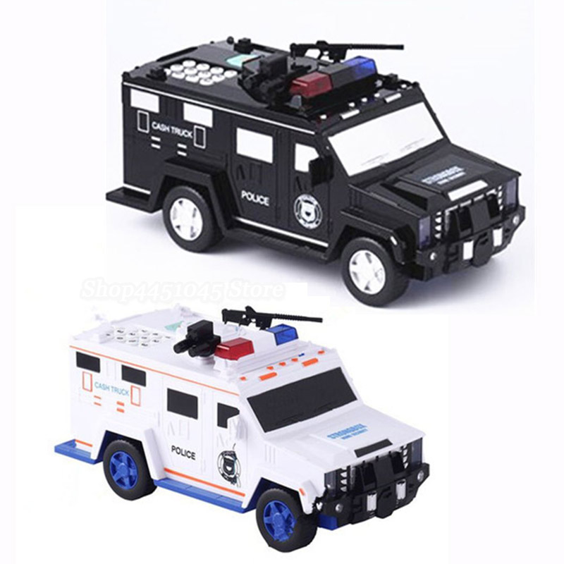 Armored Car Bank Password Piggy Bank With Music And Light Electronic Money Bank Toy Car Birthday Gifts For Kids