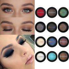 PHOERA wędzone paleta cieni do powiek matowy proszek paleta cieni do powiek makijaż kosmetyczne piękno barwnik 12 kolorów cień do powiek TSLM1
