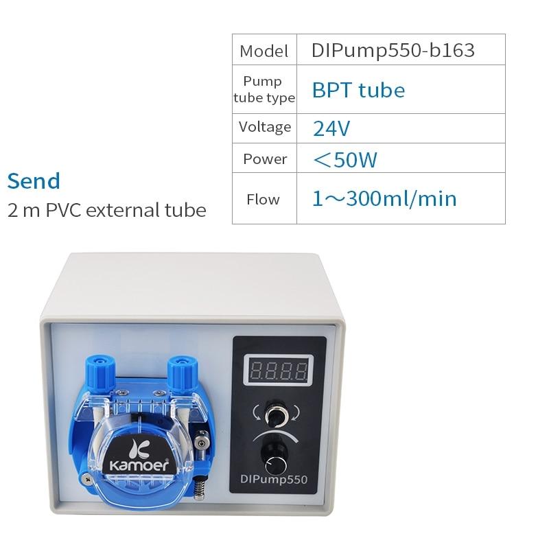 Kamoer DIP интеллигентая(ый) 24V перистальтический насос с внешним Мощность и силиконовая трубка Адаптер для перекачки жидкостей для лабораторий - Напряжение: DIPump550-b163