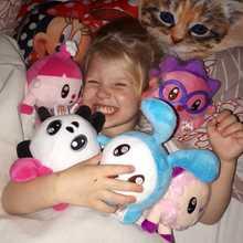 5PCS Neue Heiße Russische cartoon Puppe Kaninchen panda schwein schafe Plüsch spielzeug für Baby Kind mädchen junge Urlaub Geburtstag geschenk Kinder