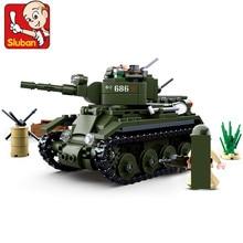 347Pcs Military WW2 World War II BT-7 Tank ARMY Building Blocks Sets 2 Figures LegoINGLs Bricks Toys Christmas Gifts