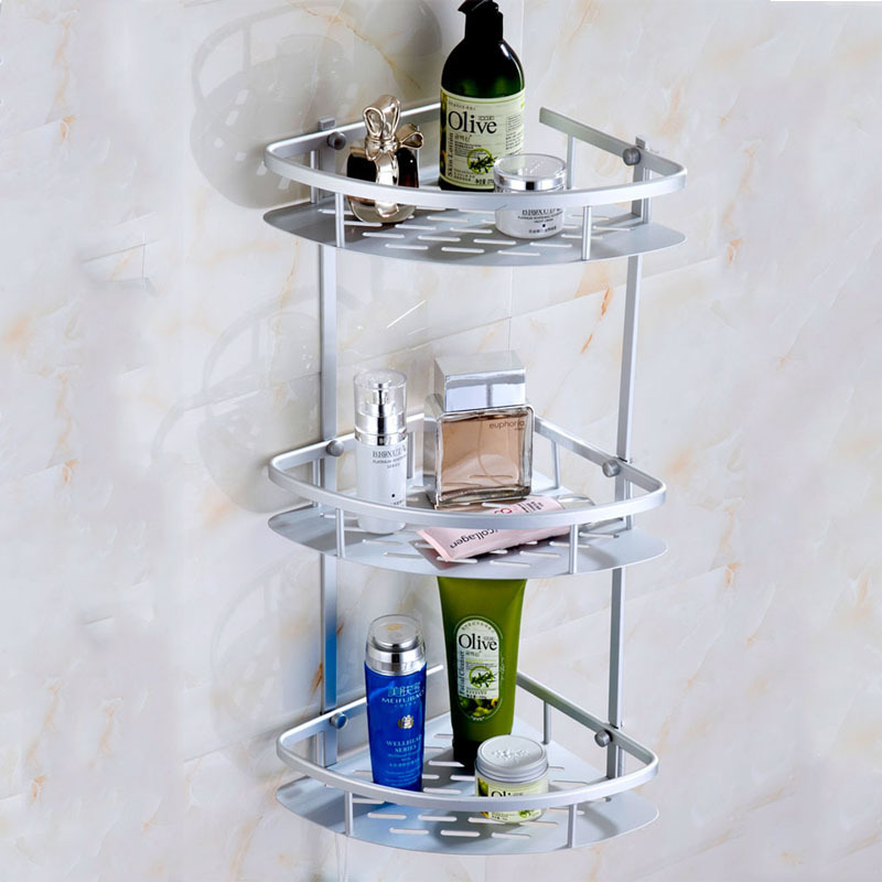 Bathroom Shelf Layer Bathroom Accessories Storage Organizer For Shampoo Soap Cosmetic Basket Holder Living Room Potted Stand in Bathroom Shelves from Home Improvement