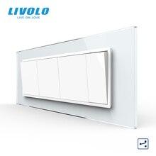 Livolo C9 USAU Standard 157.5mm Luxurious 7gang Socket  With Pearl Crystal Glass ,Brazil socket,SATV,TV,COM,Tel,USB  plugs