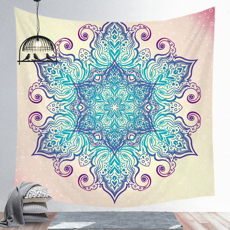 New Tapestry Wall Hanging Mandala Series Printing Beach Towel Mat Polyester Thin Blanket Yoga Mat Shawl Mat Carpet Home Cushion