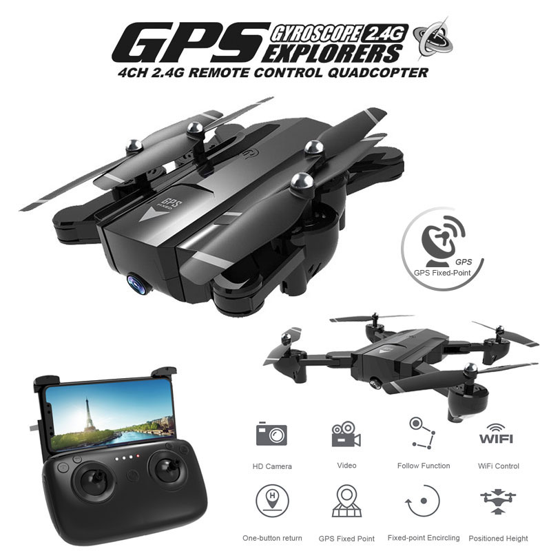 <font><b>SG900s</b></font> GPS Foldable Professional <font><b>Drone</b></font> HD Dual Camera Helicopter Follow Me Long Battery Life RC Quadrocopter Selfie Dron VS S167 image