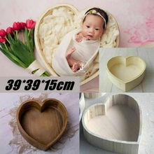 Wooden Love Heart Shaped Cot For Newborn Photography Props Baby Photo Shoot Accessories