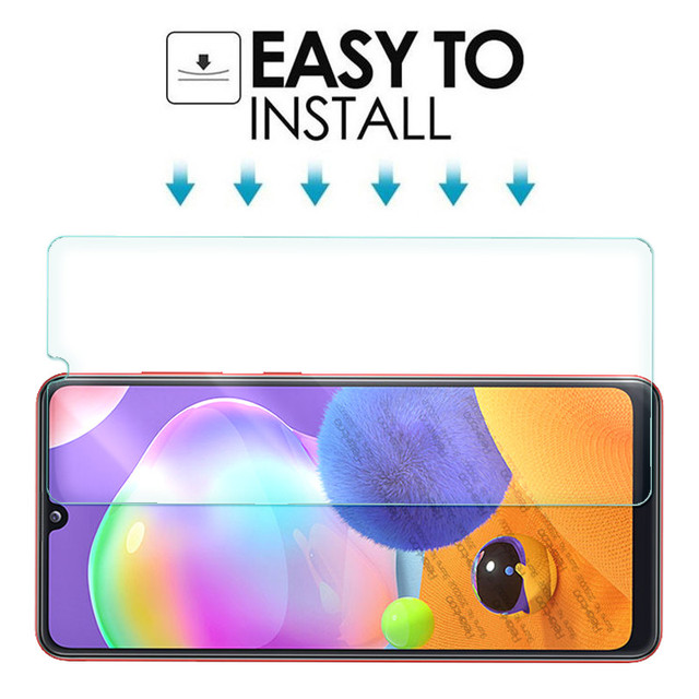 """2-in-1 camera lens glass for samsung a31 a 31 screen protector for samsung galaxy a31 2020 sm-a315f/ds 6.4"""" protective glas film 6"""