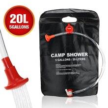 Prysznic kempingowy torba 5 galonów/20L torba na ogrzewanie słoneczne przenośna podkładka do przechowywania wody torebka kąpielowa do samochodu na zewnątrz piknik turystyczny