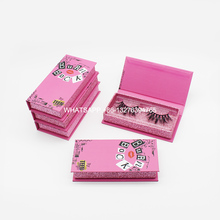 Mink-Lash-Box Tray Lashes Cases Lashbox-Packaging Burn Book Pink Custom Logo with Custom-Your-Own-Brand