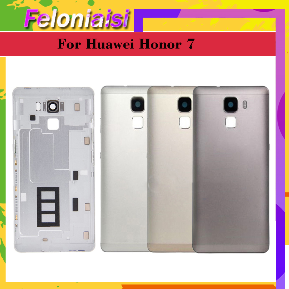 Original For Huawei Honor 7 PLK AL10 PLK L01 PLK TL01H Battery Cover Back Housing Rear Door Case Full Battery Cover Panel in Mobile Phone Housings Frames from Cellphones Telecommunications