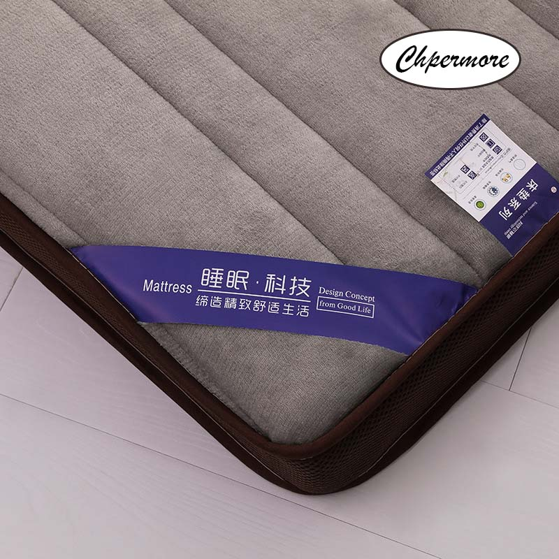Image 4 - Chpermore Thick flannel Mattress Tatami stereoscopic Comfortable Mattresses Bedspreads King Queen Twin Full Size-in Mattresses from Furniture