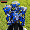 New Graffiti Color Golf Woods Head Covers Driver Fairway Hybrid Waterproof Fabric Headcovers Golf Covers For Man Women