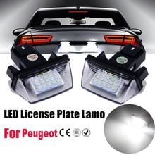 2Pcs LED License Number Plate Lights Lamp For Peugeot 206 207 306 307 308 406 407 5008 Partner M49 M59 B6 sony hd ccd special car rear view reverse backup camera reversing for peugeot 206 207 306 307 308 406 407 5008 partner tepee