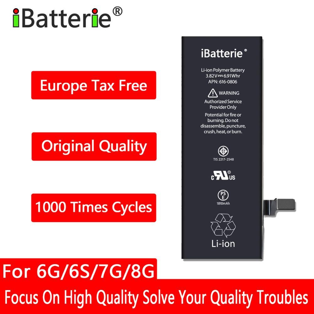 10pcs/lot iBatterie Lithium <font><b>Battery</b></font> For Apple <font><b>iPhone</b></font> <font><b>6S</b></font> 6 7 8 Plus 6Plus 7Plus Replacement Bateria For iPhone6 iPhone7 image