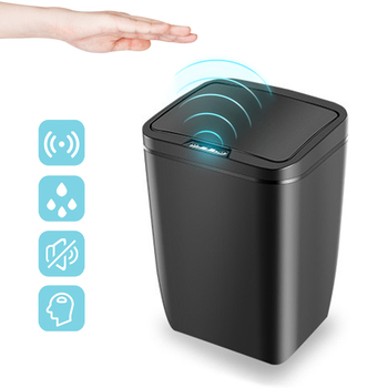 Automatic Touchless Infrared Sensor Trash Can With lid 12 Litre Kitchen Bathroom Bedroom Home Office Waste Garbage Trash Bin