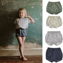 цены 2020 Baby Boys Shorts Cotton PP Pants for Girls Bottom Infant Bloomer Summer Kids Boy Girl Shorts Toddler PP Shorts 1-4 Years