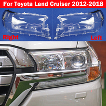 Car Front Glass Lens Lamp Shade Shell For Toyota Land Cruiser 2012-2018 Transparent Auto Light Case Headlight Cover