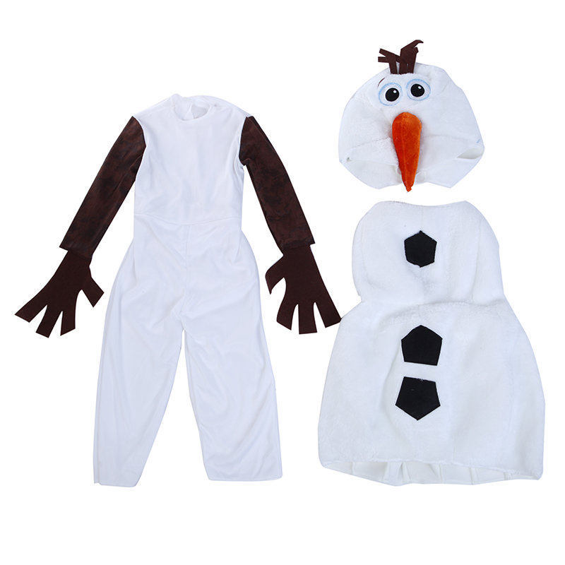 Halloween Favorite Cartoon Movie Snowman Cospaly Party Costumes Snow Queen Olaf Costume Children's Day Stage Sets For Boy Girl