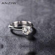 Синтетическое кольцо sona Роскошное винтажное обручальное для